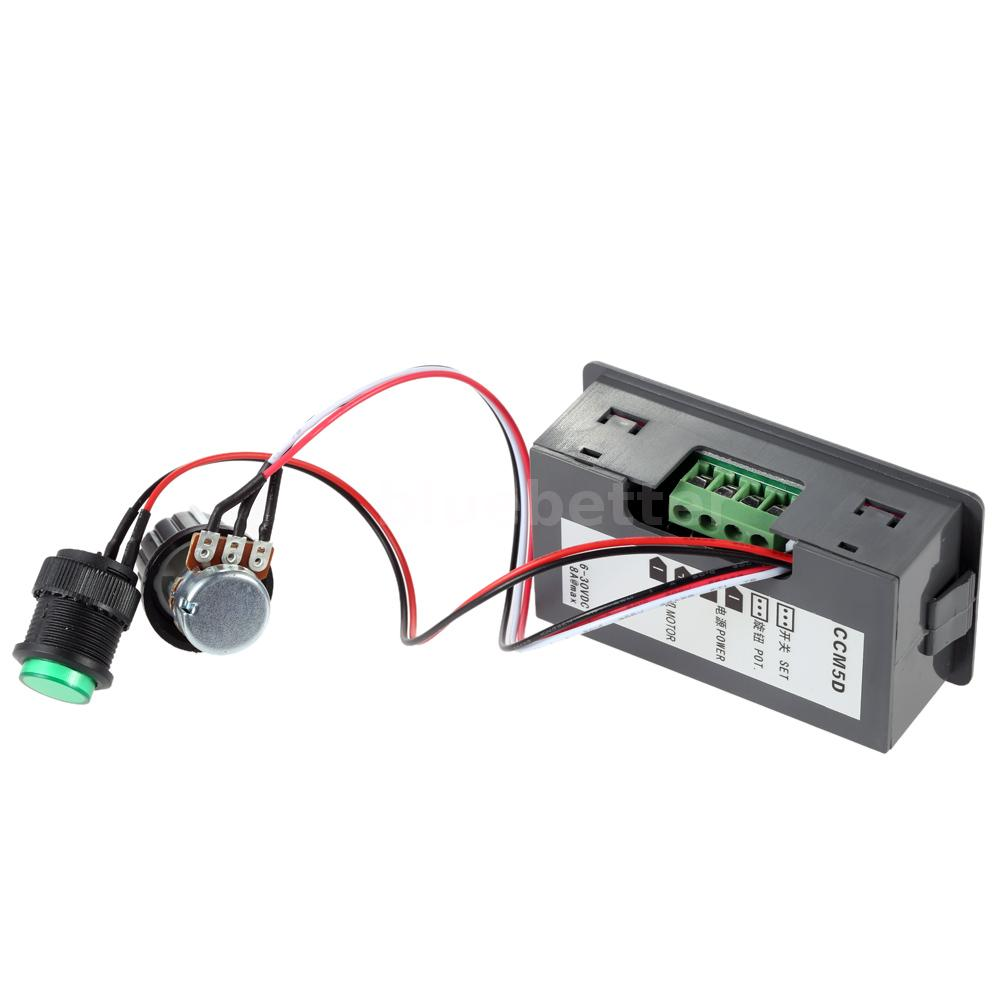 Digital Led Dc Motor Speed Controller Pwm Stepless Switch