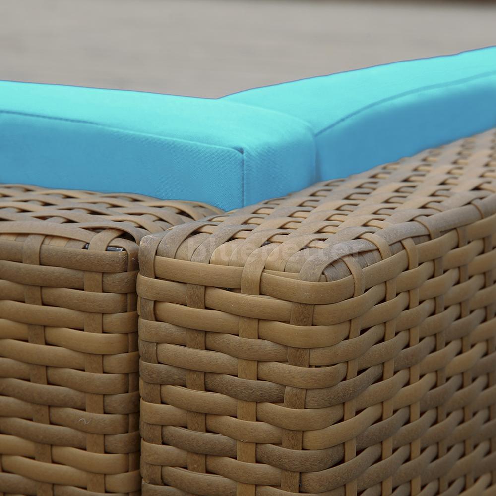 5pcs PE Garden Rattan Wicker Set Outdoor Sectional Sofa Furniture ...