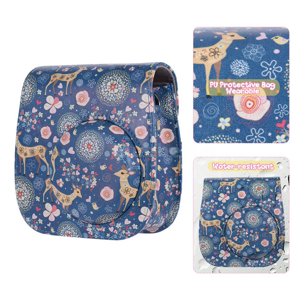 e058a055b374 Lovely PU camera case designed for Fujifilm Instax Mini 8+ 8s 8 9 Instax  camera. Protect you camera and make it easy   portable to carry.