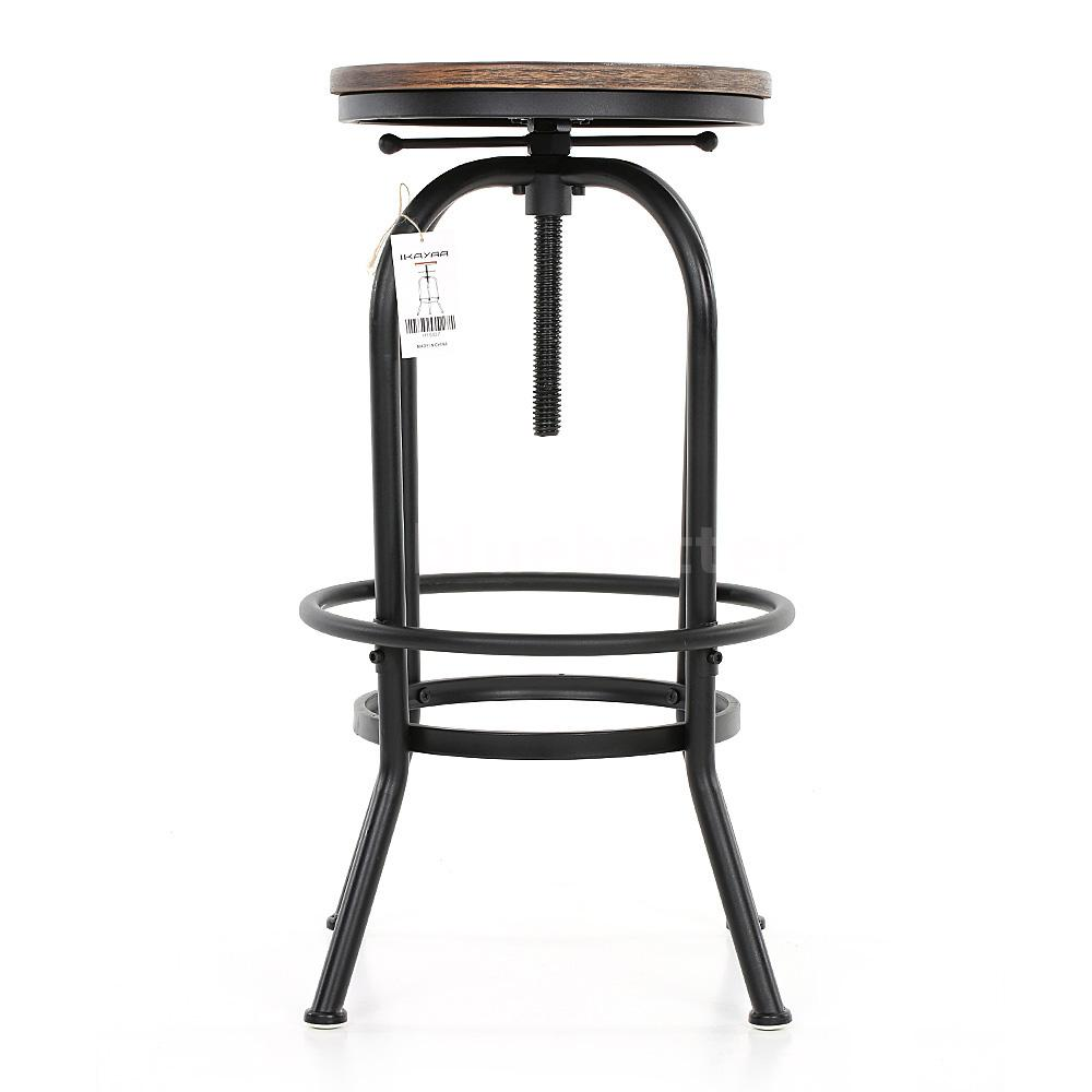 2x industrial design counter height bar stool chair seat for Industrial design bar stools