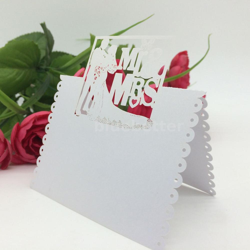 100PCS Laser Cut Wedding Birthday Party Table Name Place Cards Favor ...