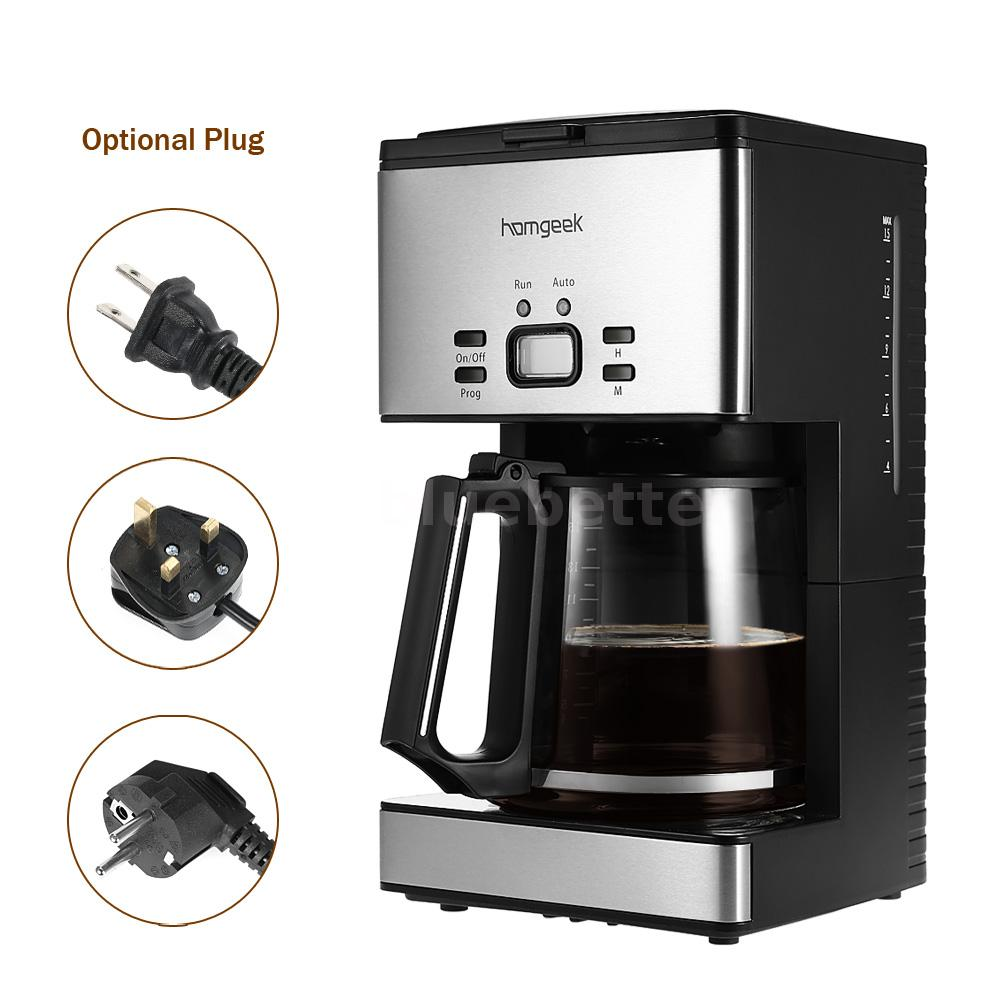 Electric Drip Coffee Maker History : Homgeek 15 Cups Programmable Automatic Drip Coffee Pot Maker Coffeemaker V8N3 eBay