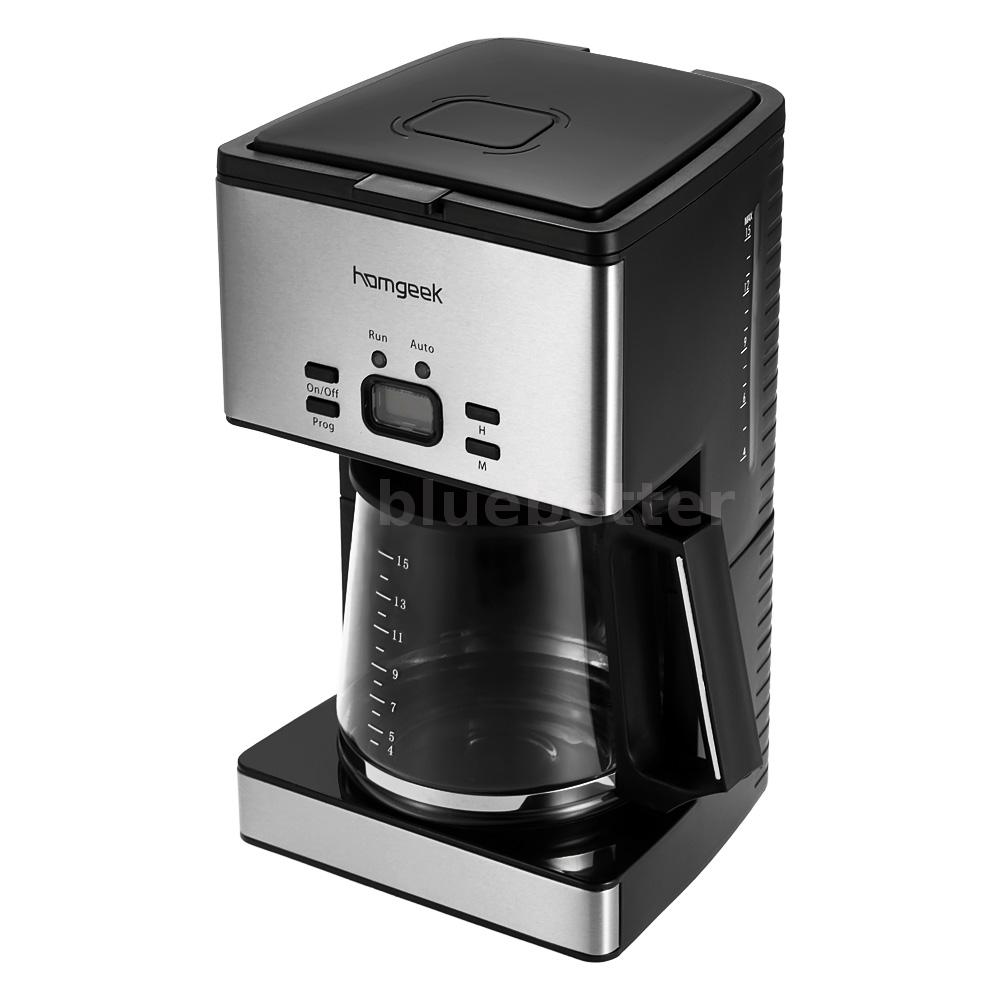 Drip Coffee Maker With Timer : Homgeek 15 Cups Programmable Automatic Drip Coffee Pot Maker Coffeemaker V8N3 eBay