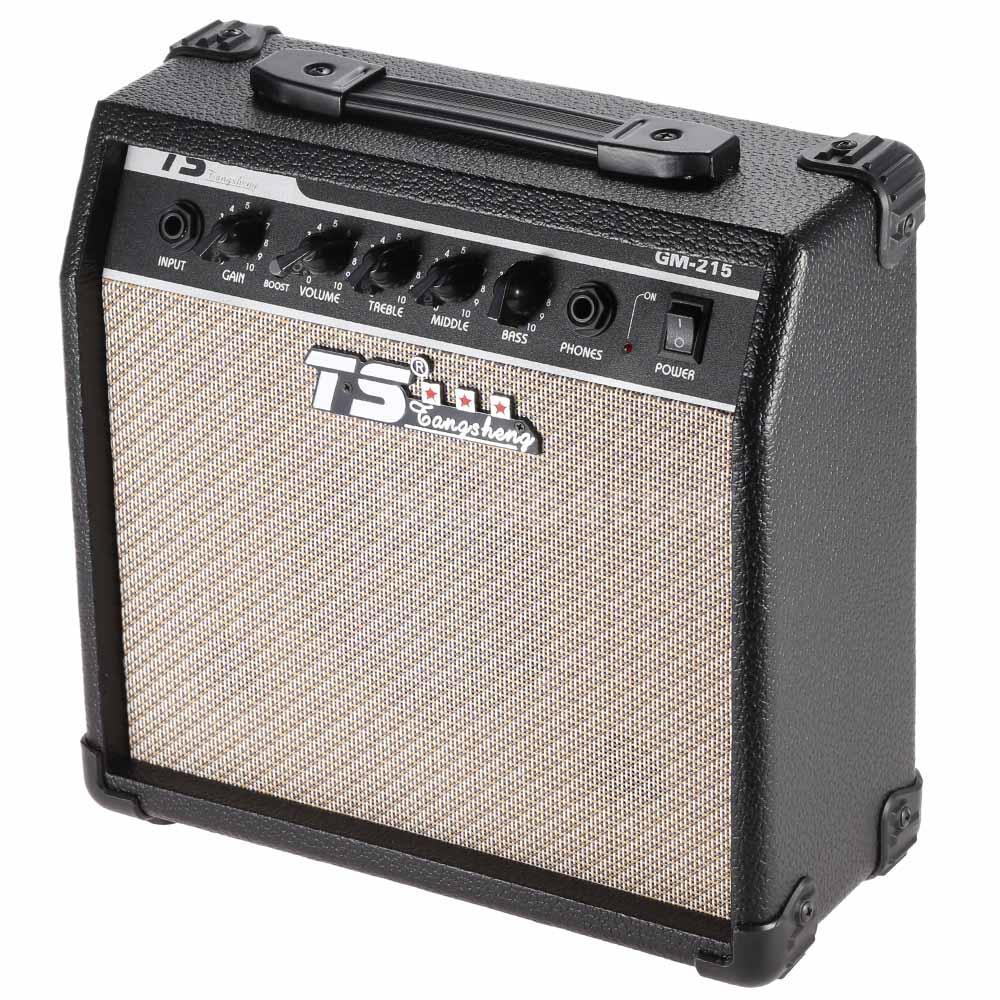 electric guitar amplifier with 3 band eq 5 speaker 15w output us 110v plug q0w4 ebay. Black Bedroom Furniture Sets. Home Design Ideas