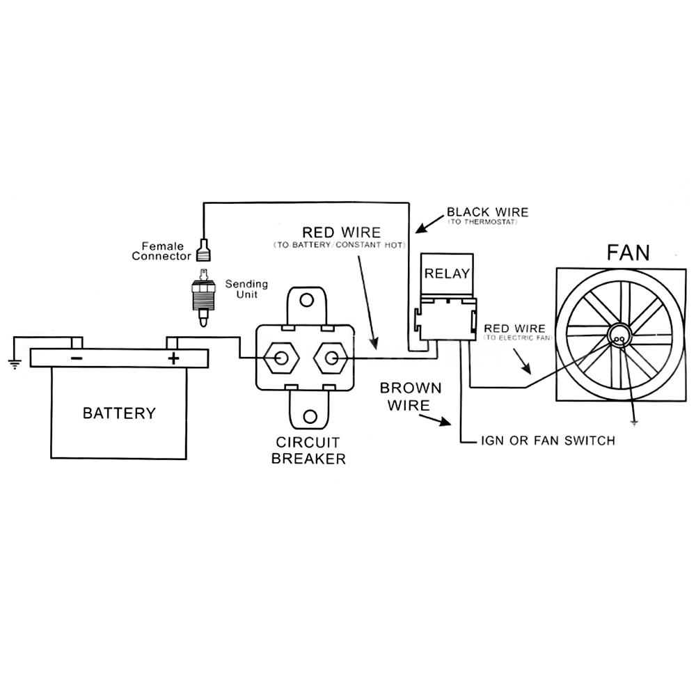 I Installed My Electric Fan Relay Kit But Wiring Diagram