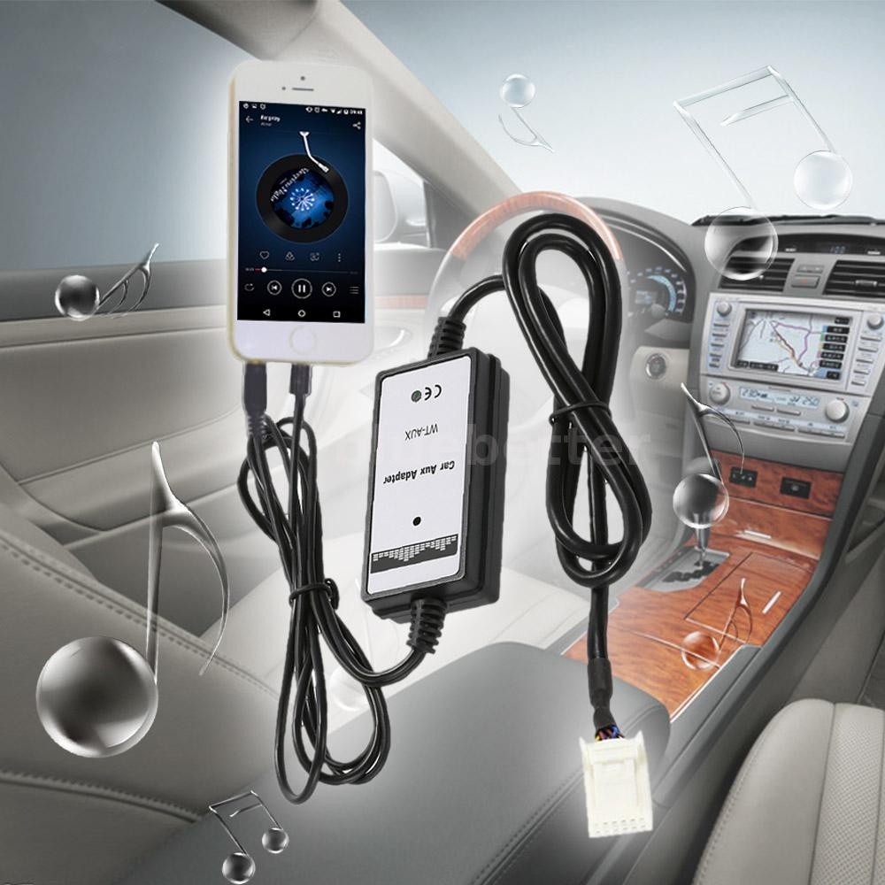 Car 3.5mm Aux In MP3 Audio Adapter USB Interface For