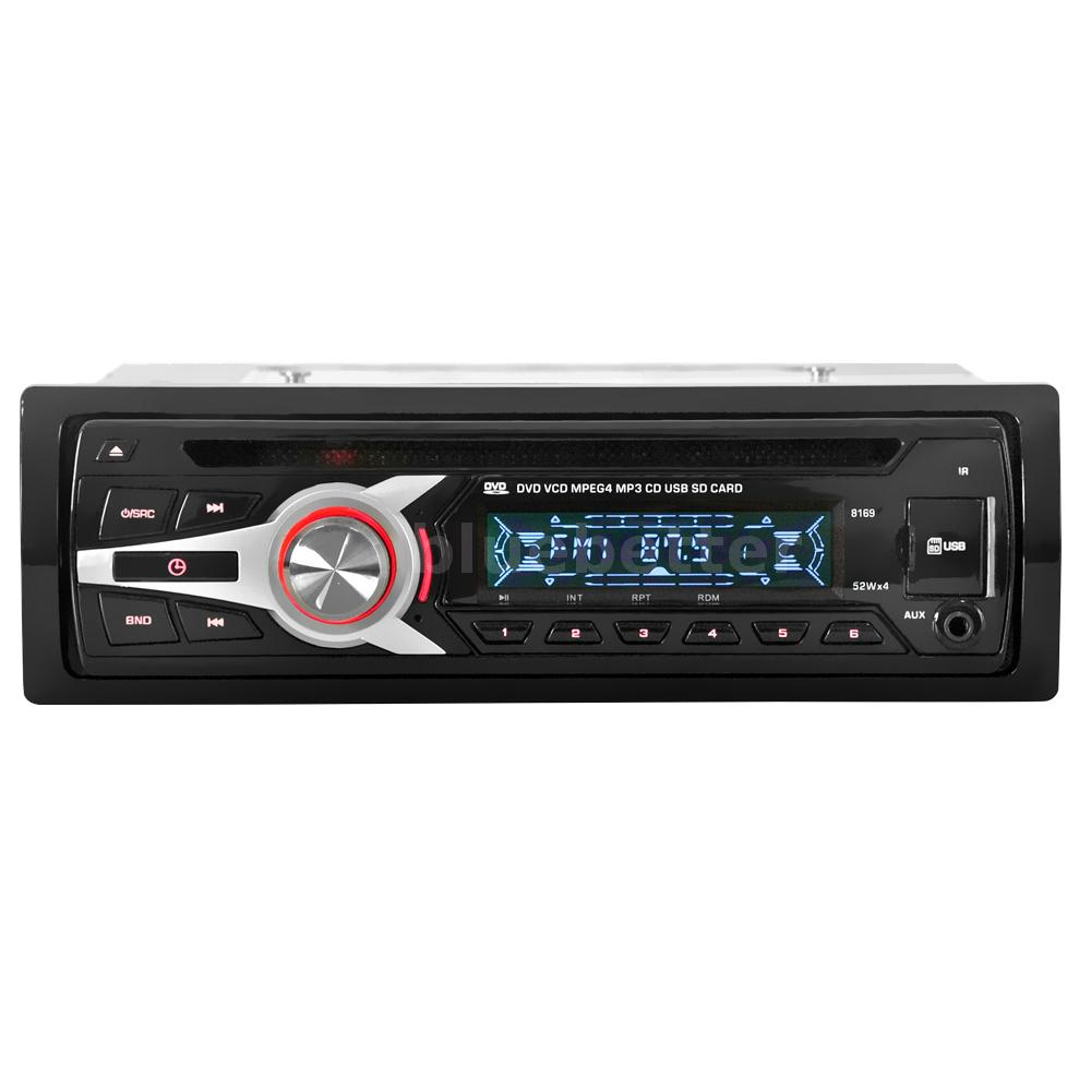 1 din auto car stereo radio cd dvd vcd mp3 mp4 player fm. Black Bedroom Furniture Sets. Home Design Ideas