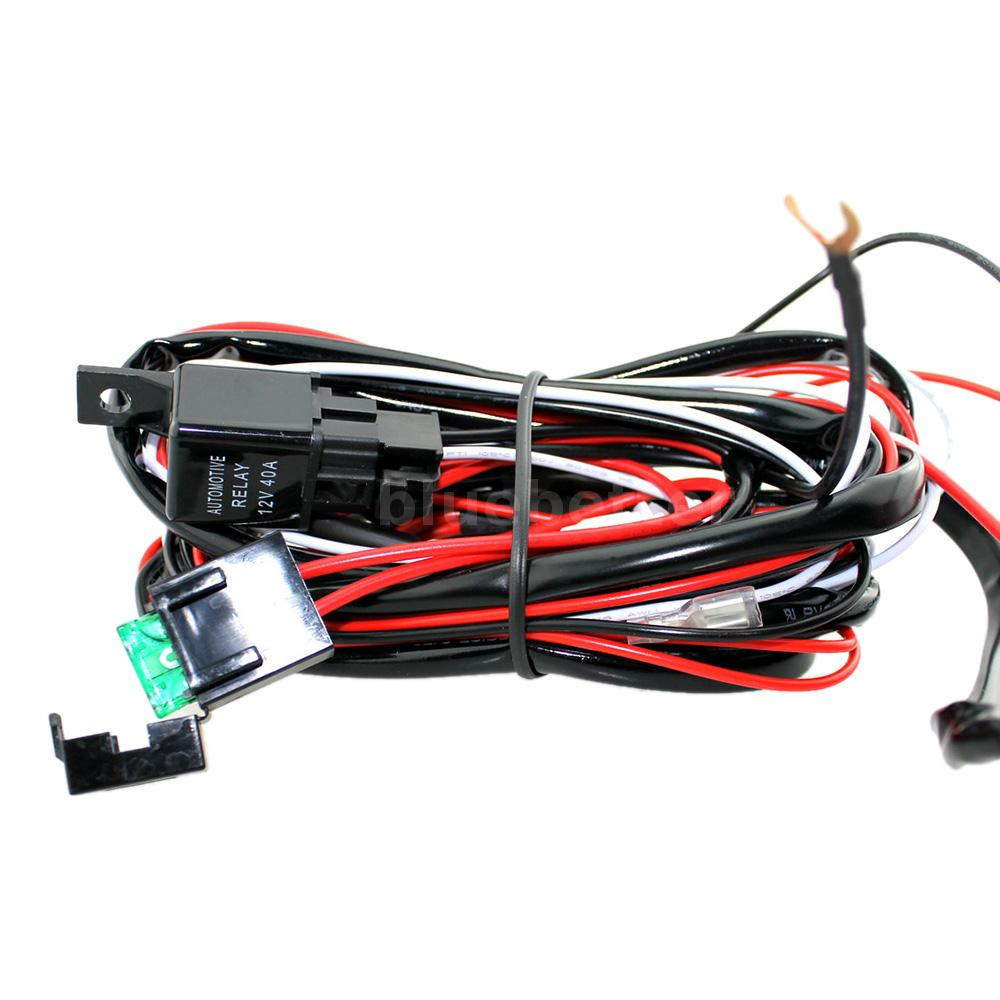Universal Led Light Bar Rocker On Off Switch 40a Relay Wiring Car Blue Red Harness With High Sensitive Indicator Fit For Any 7 10 12 20 30 40 Bars That Is Within 180w Power