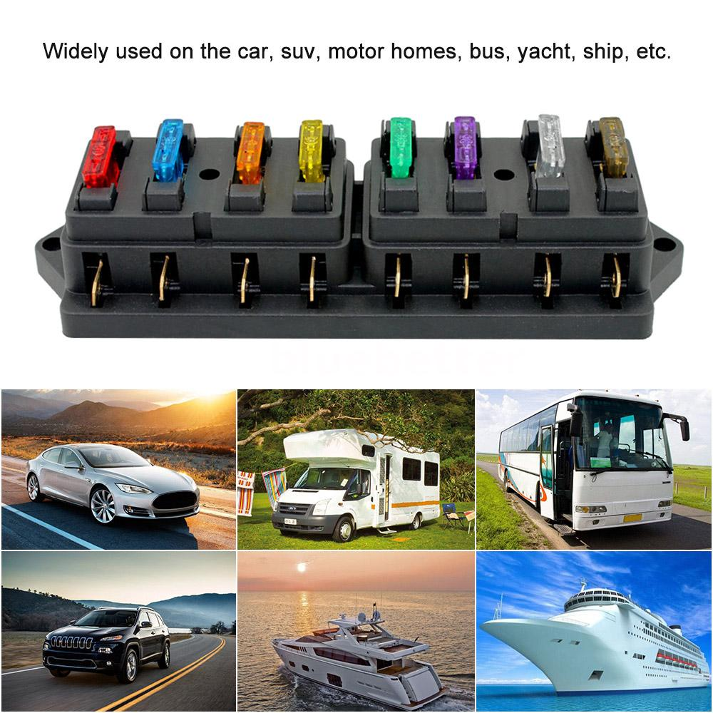this fuse box is suitable for all kinds of automotive and marine  applications, including 12v & 24v systems (maximum voltage 32v)