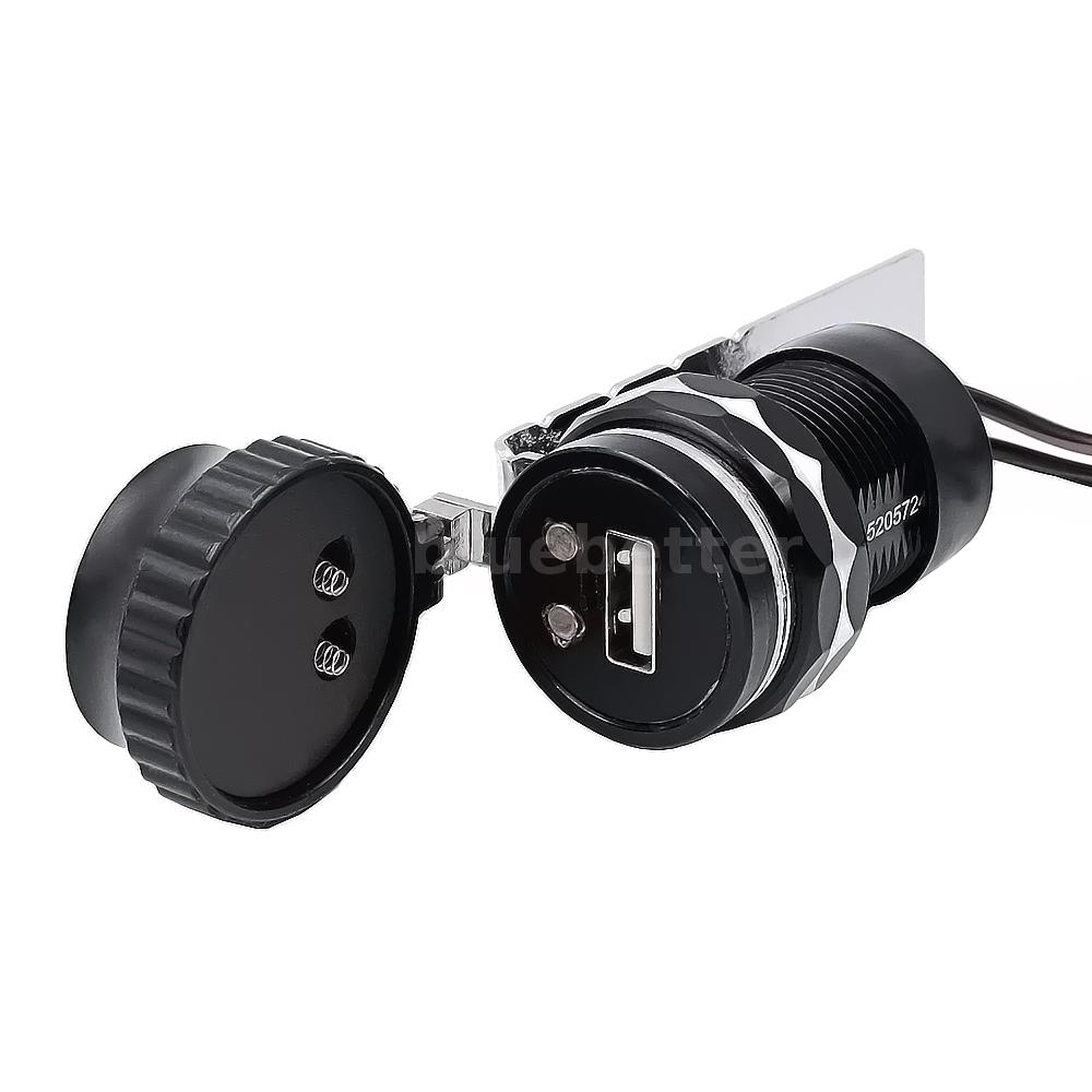 Port Charger Adapter With Digital Display: Motorcycle E-bike Digital Voltmeter USB Charger Adapter