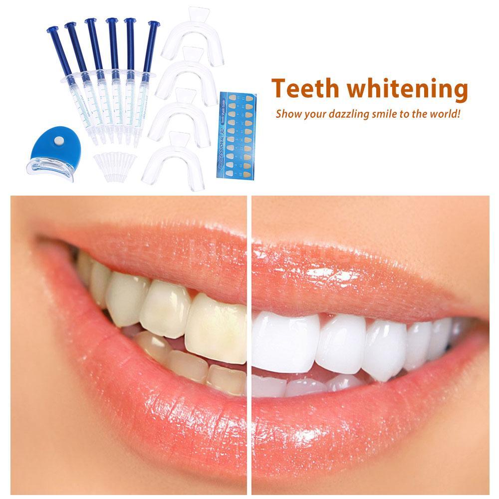 12pc teeth whitening kit gels trays white led light best. Black Bedroom Furniture Sets. Home Design Ideas