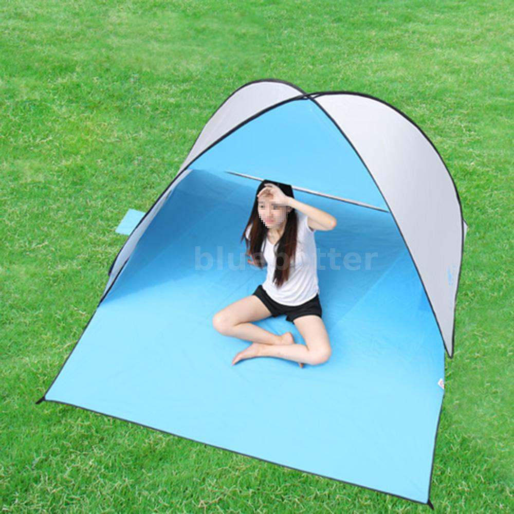 Portable Compact Canopy : Portable beach shelter sun shade canopy camping fishing
