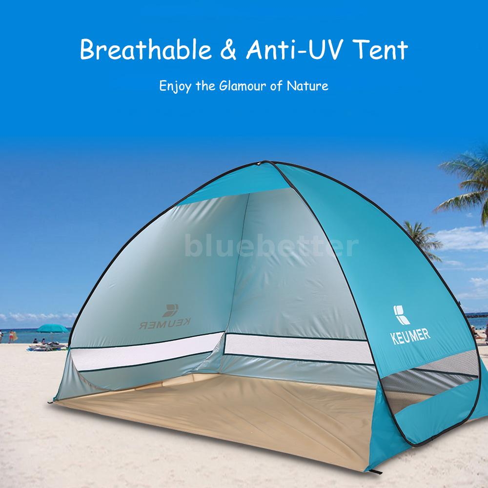 Instant Shade Tent : Portable waterproof instant pop up tent camping beach