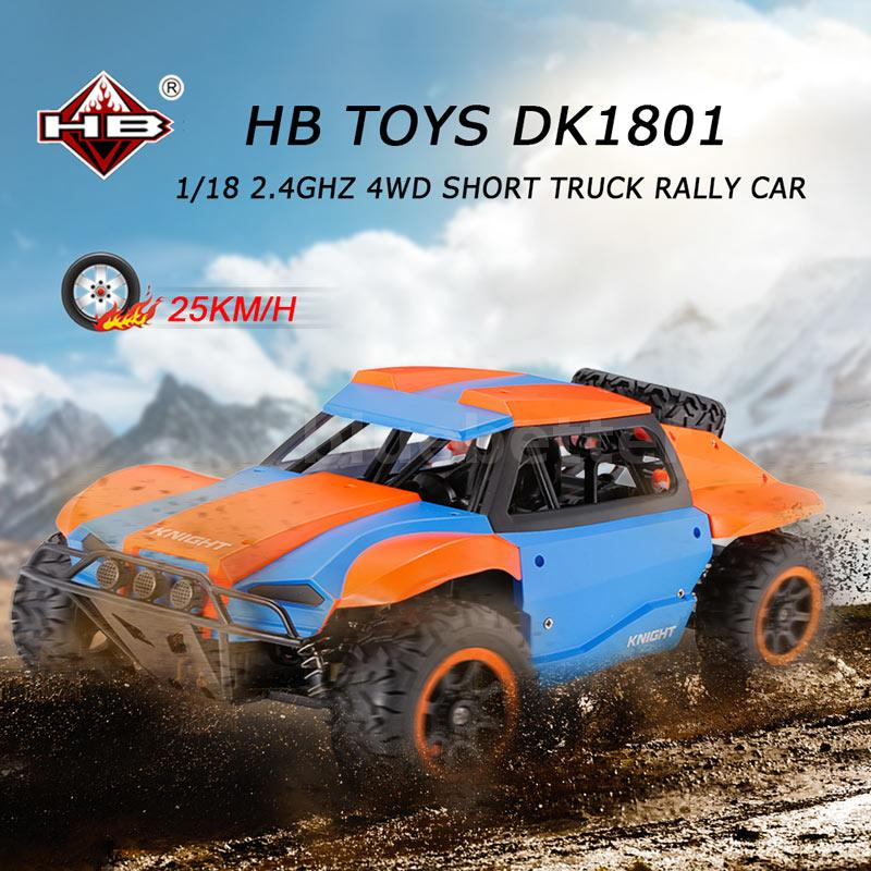 Racing Rally Car HB TOYS DK1801 1/18 2.4GHz 4WD Off-road RC Truck ...
